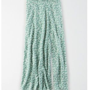 American Eagle floral midi slip skirt